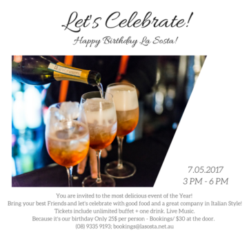Aperitif Party – La Sosta Birthday Celebration