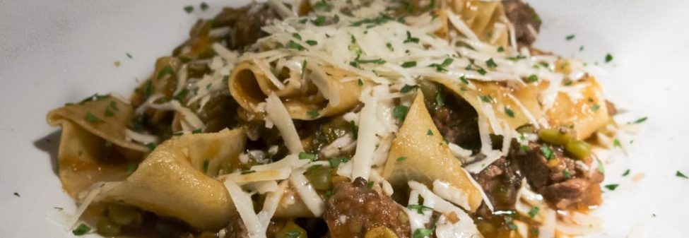 Pappardelle Game Ragu' Entree